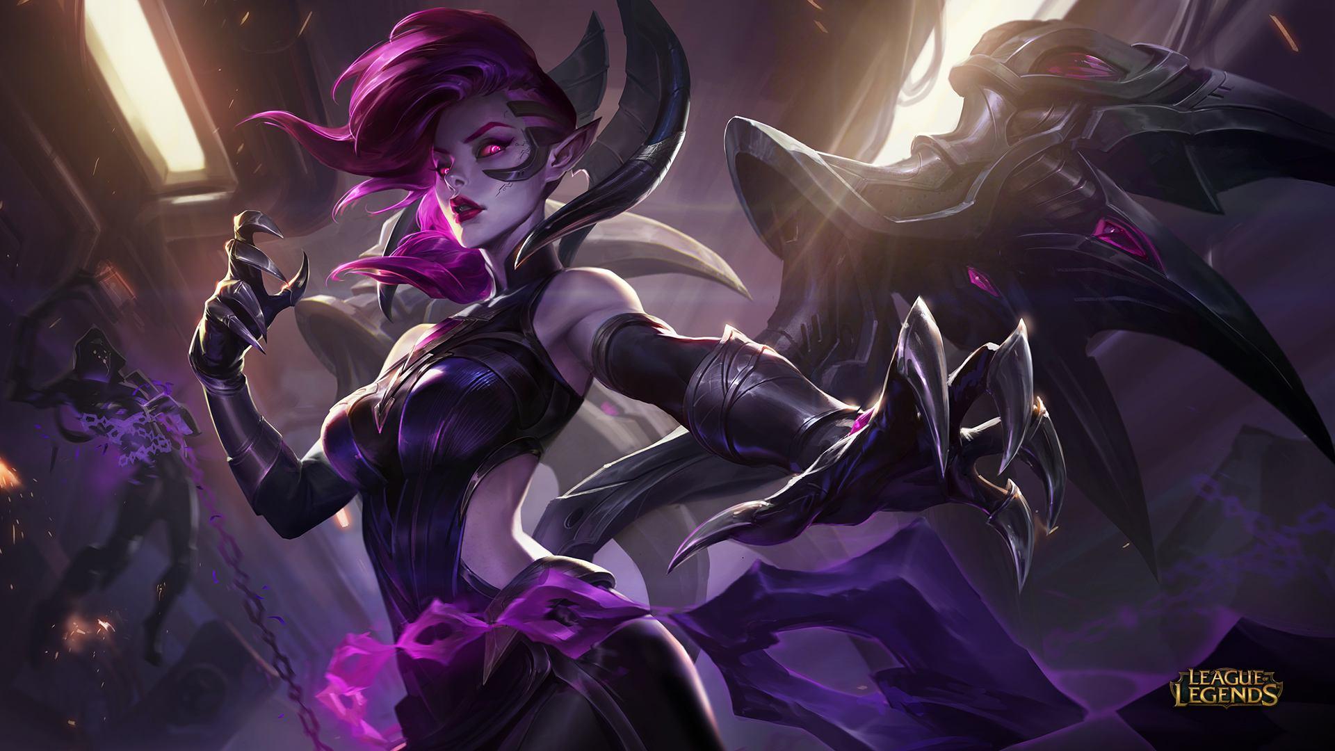 Blade Mistress Morgana The Fallen Skin Rework Wallpaper Artist