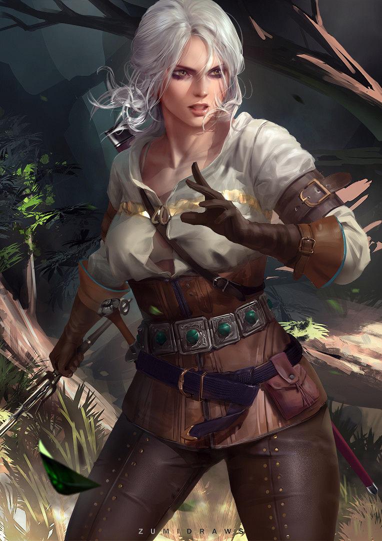 Ciri Cirilla Fiona Elen Riannon The Witcher 3 Fanart Artist