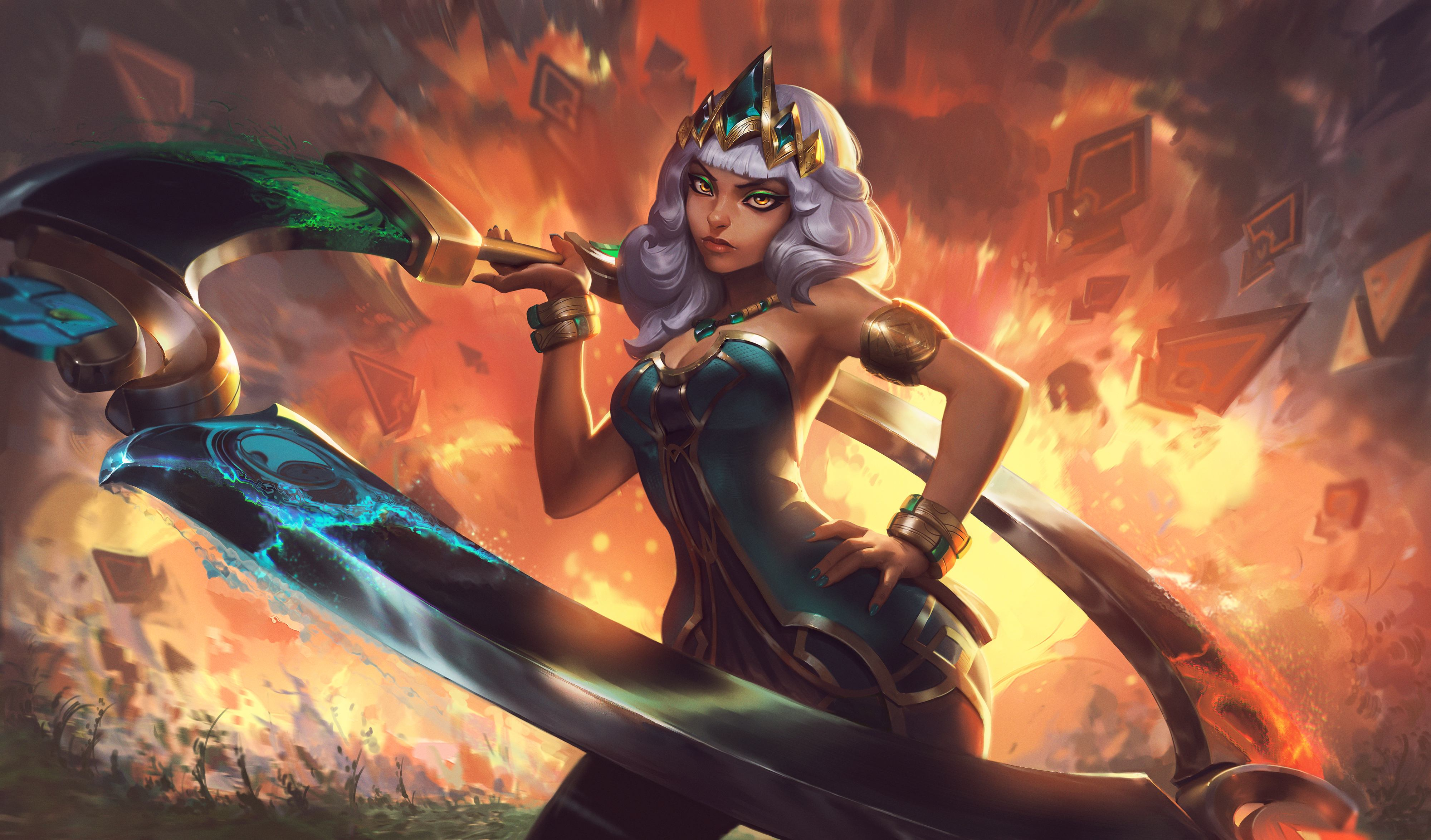 Qiyana Empress Of The Elements Splash Art Wallpapers Full Hd 4k Artist Riot Games League Of Legends Waifu Clan Anime Pics Digital Art