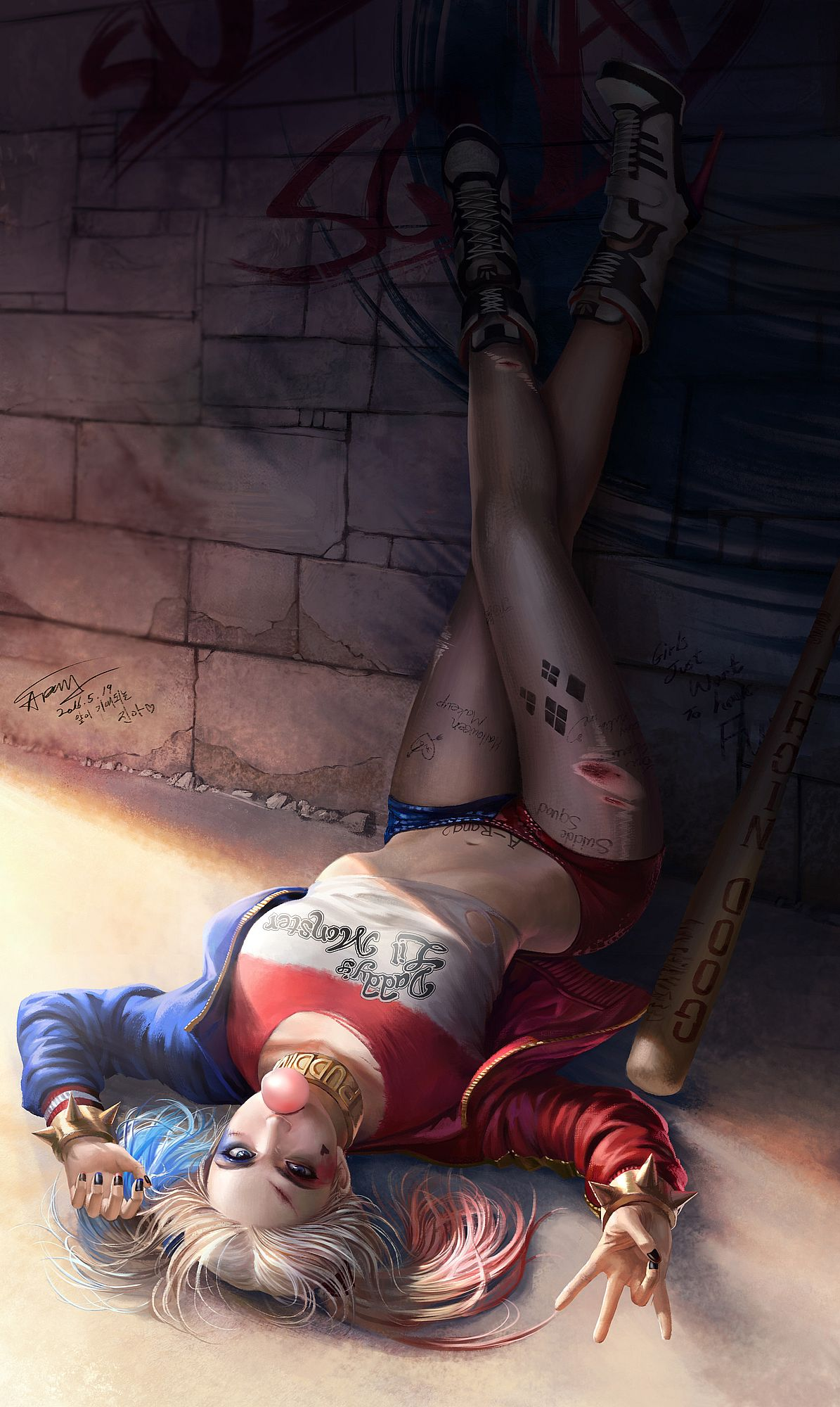 Harley Quinn Margot Robbie Dc Comics Fanart Artist A Rang Taekwon Kim Other Games Waifu Clan Anime Pics Digital Art