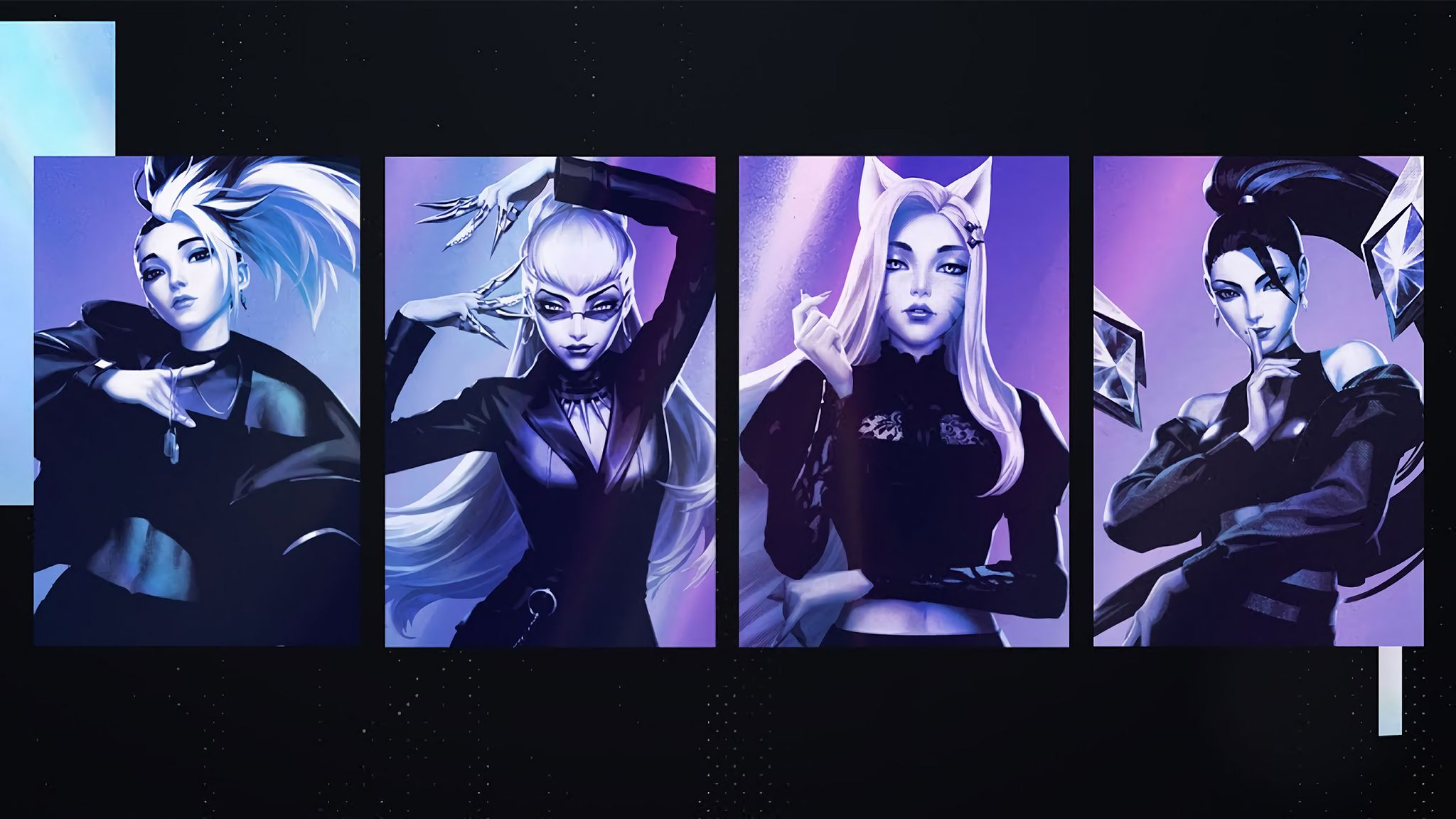 Desktop Wallpapers K Da The Baddest Ahri Evelynn Kai Sa Akali Artist Riot Games League Of Legends Waifu Clan Anime Pics Digital Art