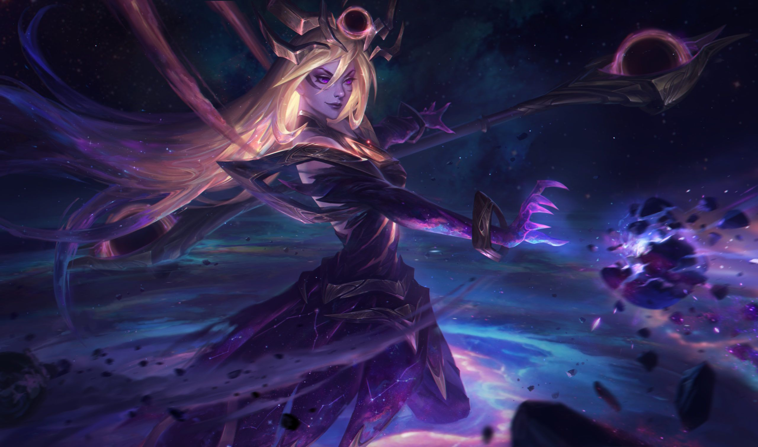 Wallpapers Cosmic And Dark Cosmic Lux Skins Artist Riot Games League Of Legends Waifu Clan Anime Pics Digital Art
